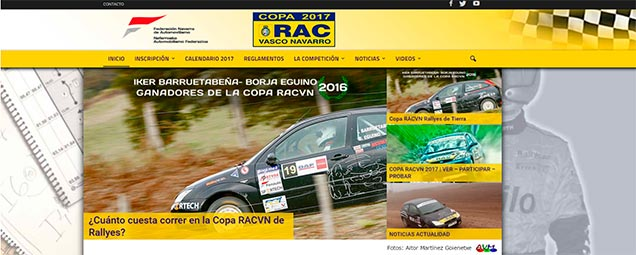 web equipo competición rally