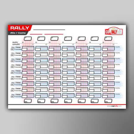 tabla de tiempos copiloto de rallyes CopiRally
